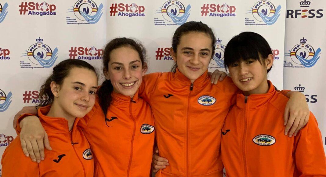 Club Noja Playa Dorada (Laura Bielsa Amavisca, Patricia Bolado Abascal, Lucia Ferreira Rodríguez y Mencía Incera Salas) se hizo con el récord de España en 4x50 metros relevo combinado.