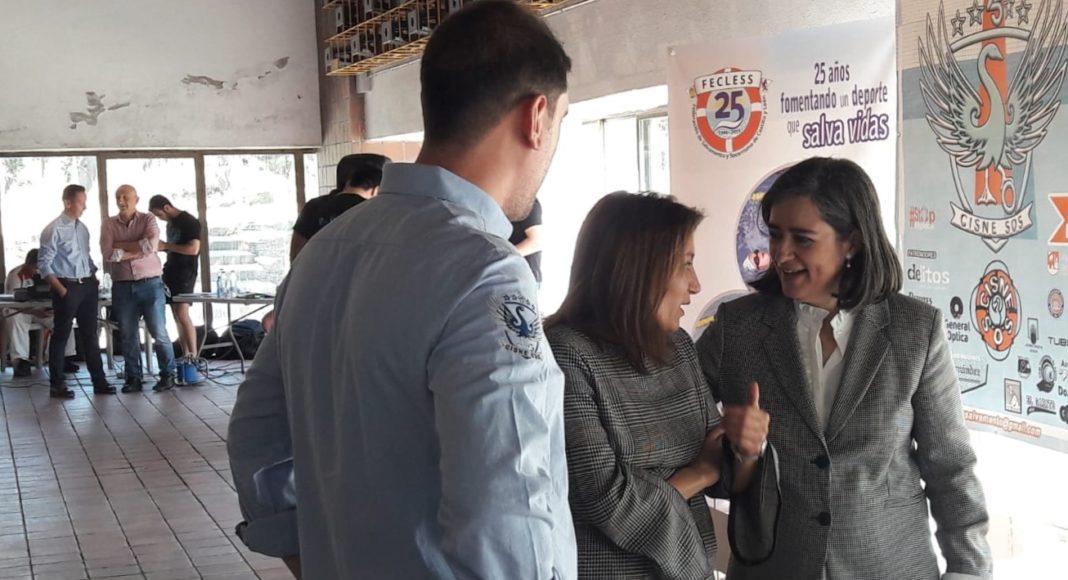 """Isabel García Sanz ha asistido en Ávila a la ceremonia de premiación del trofeo """"25 aniversario Cisne S.O.S."""". Sonsoles Sánchez-Reyes Ignacio Retuerto Javier Maroto"""