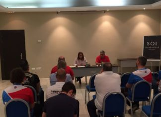 Isabel García Sanz y Jesús Troyano, también miembro de la Junta Directiva, durante la reunión de Málaga.