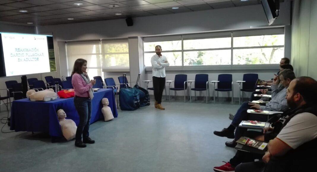 Personal del COE recibe formación en primera intervención y reanimación cardio-pulmonar, Madrid, 9 de mayo de 2019