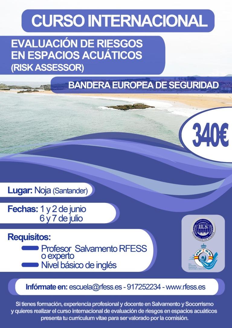 Curso Internacional sobre Bandera Europea de Seguridad promovido por la Real Federación Española de Salvamento y Socorrismo.