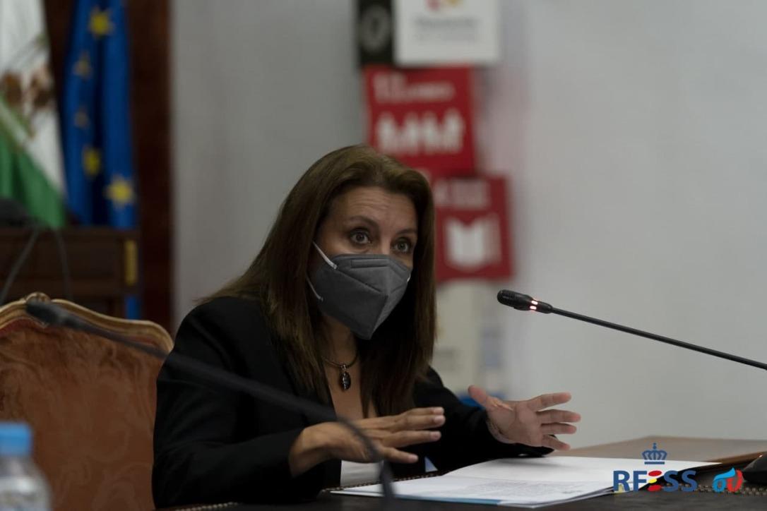 Isabel García Sanz durante la presentación del cartel del CIPREA en Diputación de Córdoba