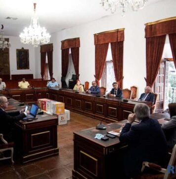 La Asamblea General de la FLASS se celebró en el Salón de Plenos de la Diputación de Córdoba, ubicada en el Palacio de la Merced. Autora: Laura Martín-RFESS